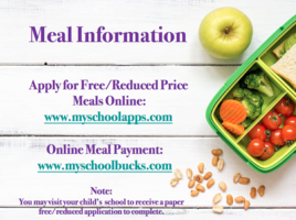Online Meal Payment and Free-Reduced Lunch Information