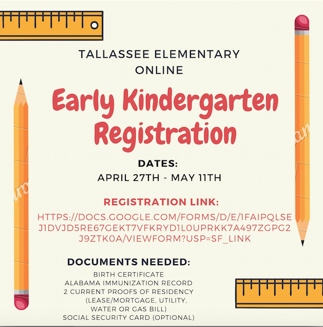 2020-2021 Early Kindergarten Registration
