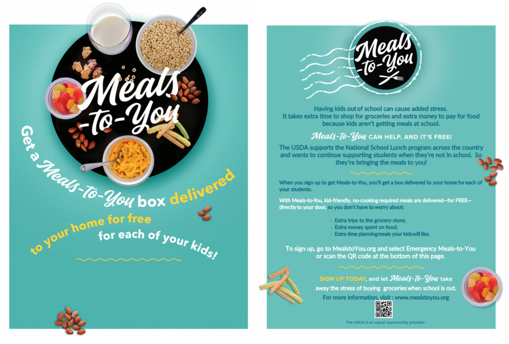 Meals to You for Free or Reduced Students