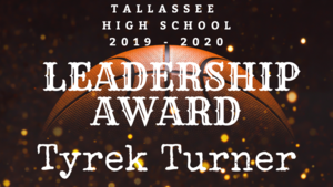 Tyrek Turner wins Leadership Award
