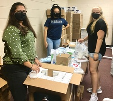 Leo Club prepares First Aid packages for opening of school
