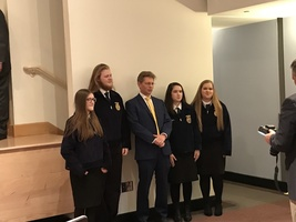 FFA Quartet performs for State Superintendent Mackey