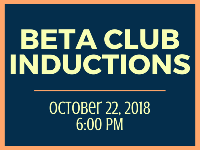 Beta Club Inductions