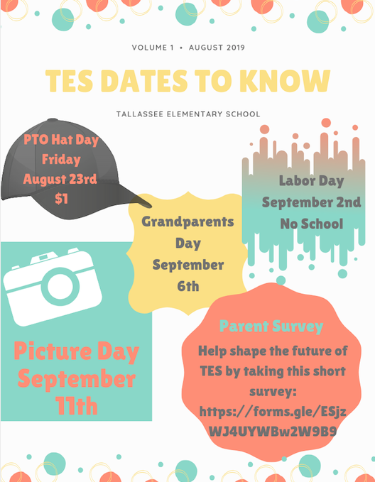 T.E.S. Dates to Know