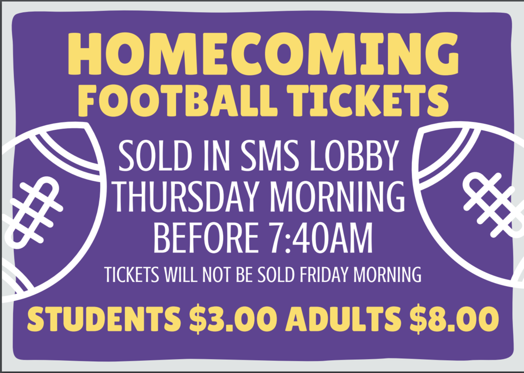 Homecoming Ticket info
