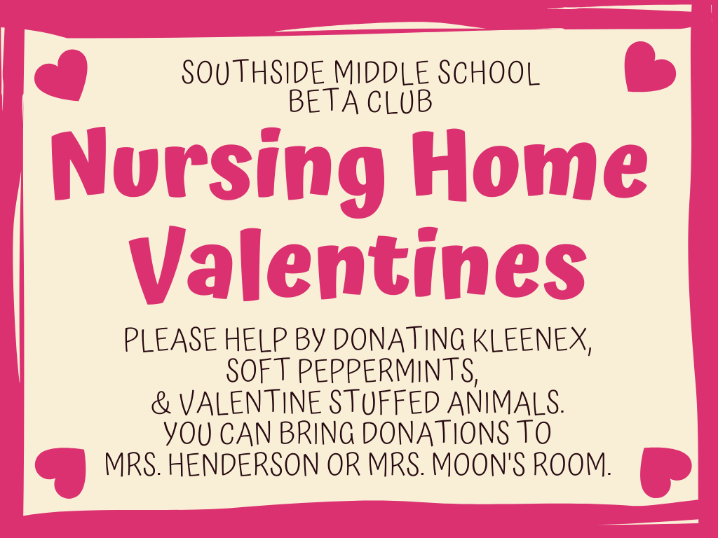Beta Club Valentines