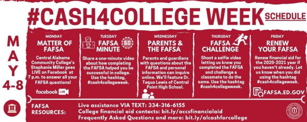 May 4th - 8th Cash for College Week