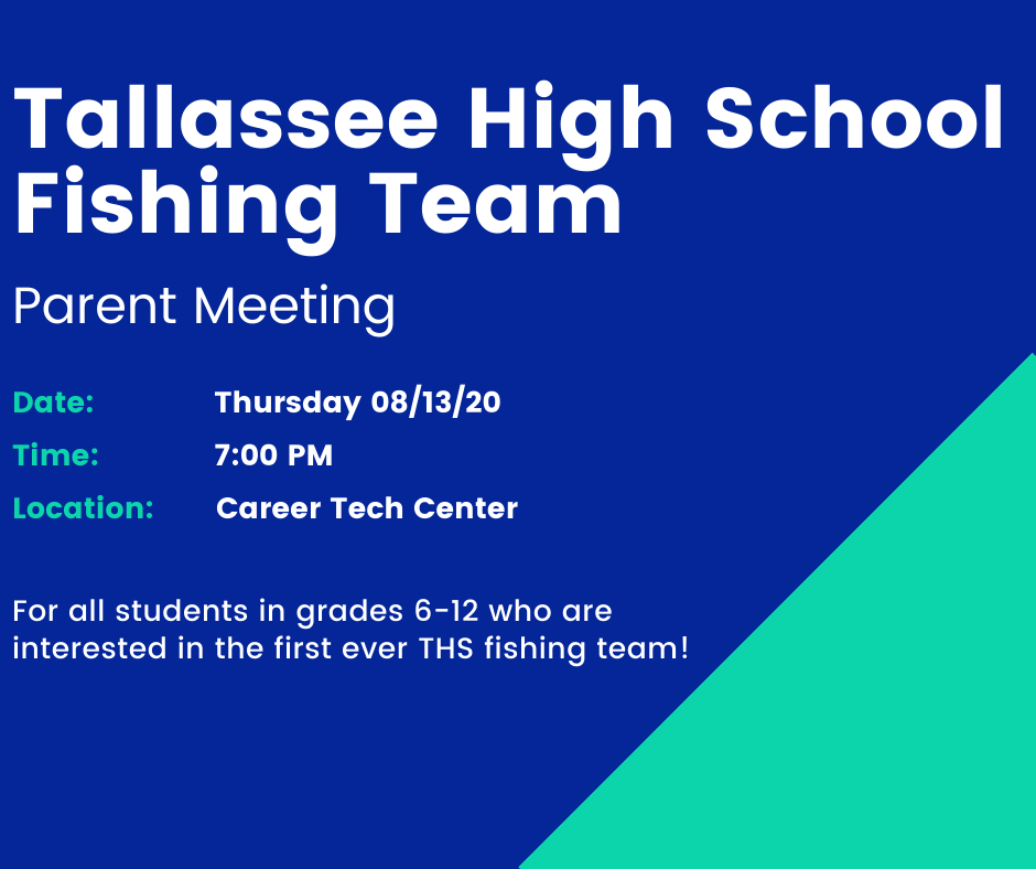 Fishing Team Parent Meeting Info