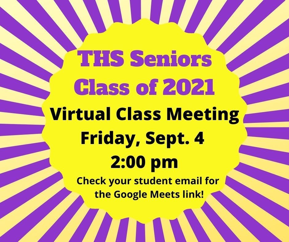 Class of 2021 virtual meeting